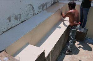 Proceso de aplicación de Chukum en piscinas
